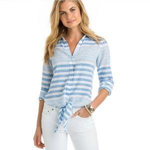 Vineyard Vines Linen Button Nautical Shirt Tie